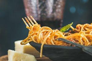 Spaghetti with meatballas