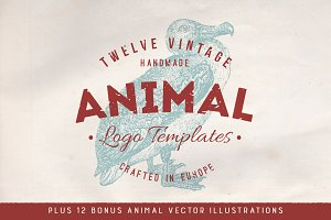 Animal Logo Badges + Bonus Vectors