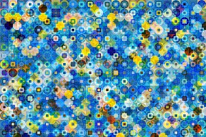 Squares Circles Color Pattern