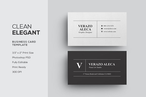 Clean elegant business card business card templates creative market cheaphphosting Image collections