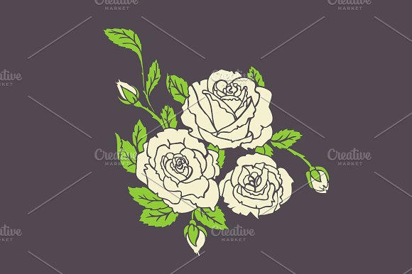 Roses desidn + pattern in Wedding Templates - product preview 2