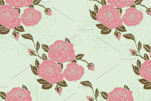 Roses desidn + pattern in Wedding Templates - product preview 3
