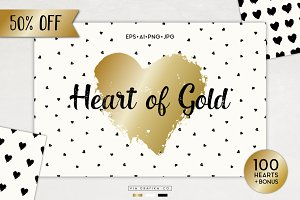50% Off Heart of Gold Graphics Set
