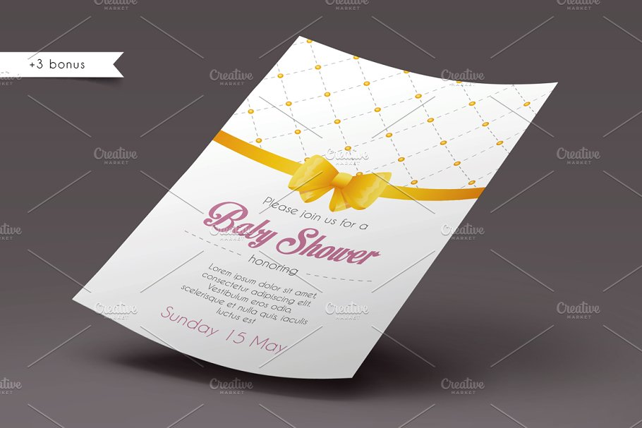 Invitations design in Wedding Templates - product preview 8