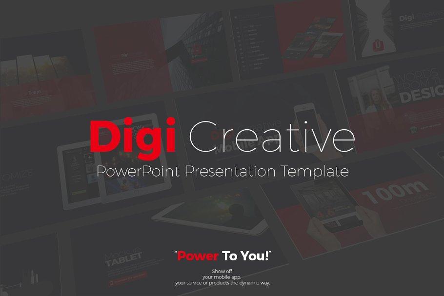 Digi Creative PowerPoint Template ~ PowerPoint Templates