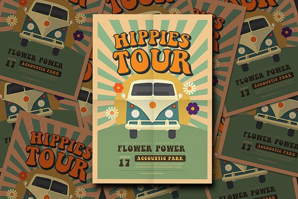Hippies Party Flyer