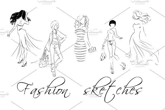 Fashion Sketches Set