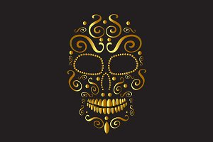 Skull vector icon fashion design