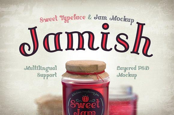 Jamish Font Mockup