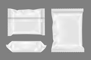White foil pack for snack