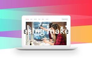 MacBook™ Mockup with Crossed Lines