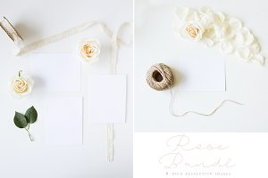 White Rose Stationery Mockup Bundle