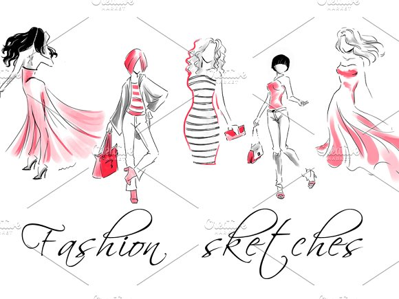 Vector Fashion Sketches