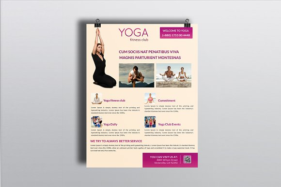 Yoga Business Flyer