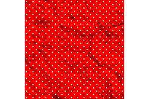 Crumpled polka dot pattern