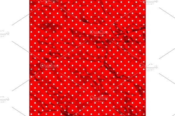 Crumpled Polka Dot Pattern