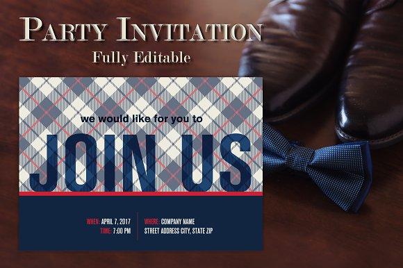 Preppy Party Invitation