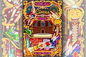 Circus Carnival Invite Theme Park
