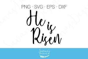 He Is Risen SVG, EPS, DXF, PNG