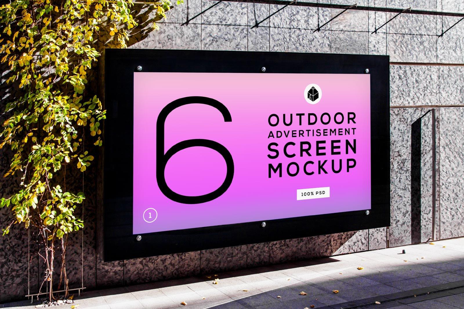 Outdoor Advertising Screen Mockups 4 Product Mockups