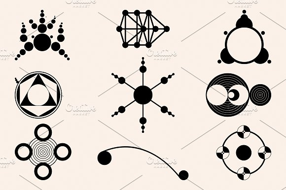 Six Crop Circles Icons