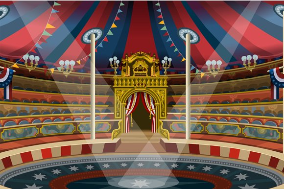 Circus Carnival Banner Tent Invite