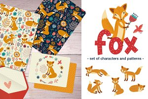 Foxes. Characters and Patterns