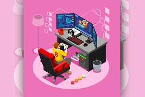 Computer Video Game Isometric Gaming