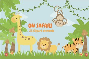 On Safari clipart