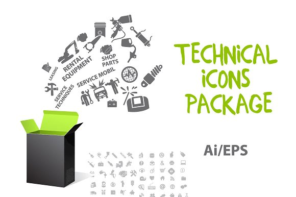 Technical Icons Package