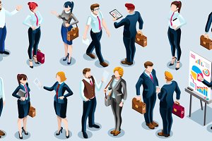 Isometric People Boss Deal Icon 3D