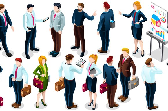 Isometric People Business Deal Icon