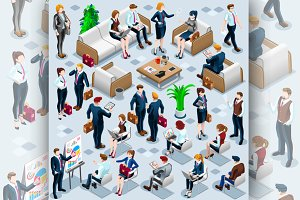 Isometric People Business Staff 3D