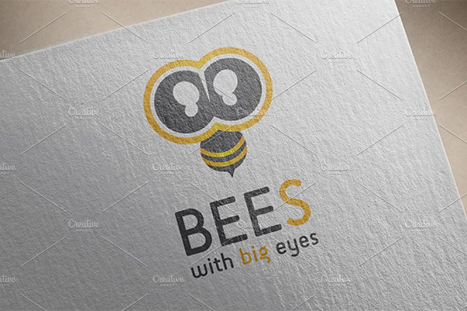 Bees Logo in Logo Templates - product preview 8