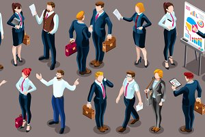 Isometric People Business Suit 3D