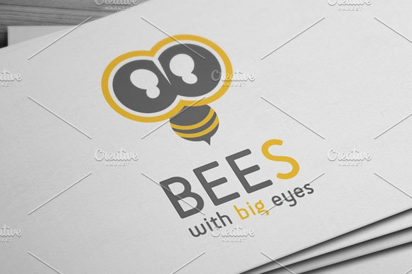 Bees Logo in Logo Templates - product preview 1