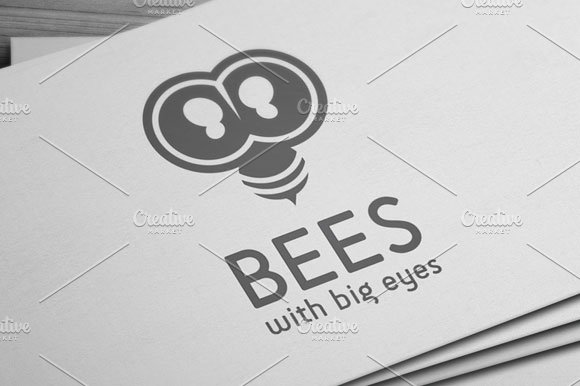Bees Logo in Logo Templates - product preview 2
