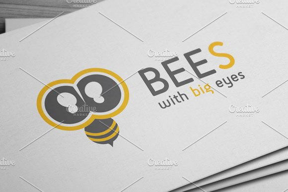 Bees Logo in Logo Templates - product preview 3