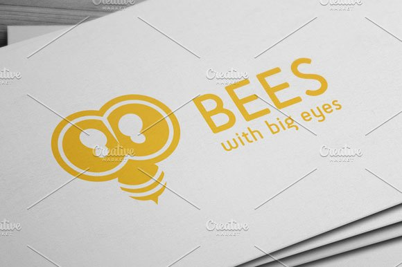 Bees Logo in Logo Templates - product preview 4