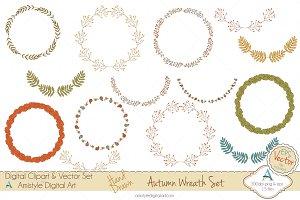 Autumn Wreath - Clipart&Vector