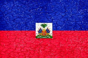 Haiti Grunge Style National Flag