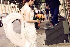 Newlyweds in French Quarters NOLA