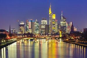 Night Frankfurt am Main, Germany