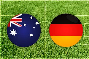 Australia vs Germany football match