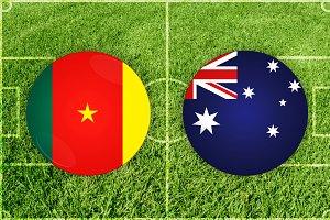Cameroon vs Australia football match