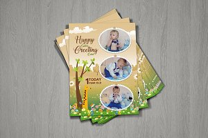 Happy Easter Family Greeting Card