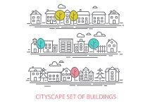Cityscape Set Of  Buldings