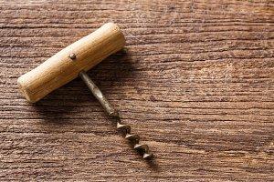 Rusty corkscrew opener