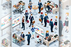 Isometric People Infographic 3D Icon
