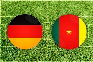 Germany vs Cameroon football match